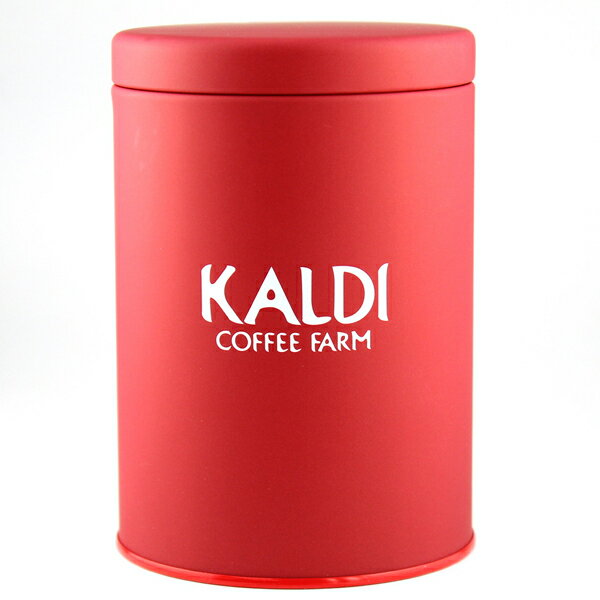 カルディオリジナル キャニスター缶 赤  の写真