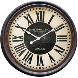 ハットトリック 1J-048-A スチールリムクロック φ47cm 【掛け時計/クロック】の写真