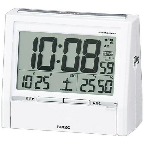セイコー 電波目覚まし時計 トークライナー DA206W(1台)の写真