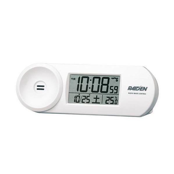 セイコー電波目覚まし時計 NR532W 白の写真