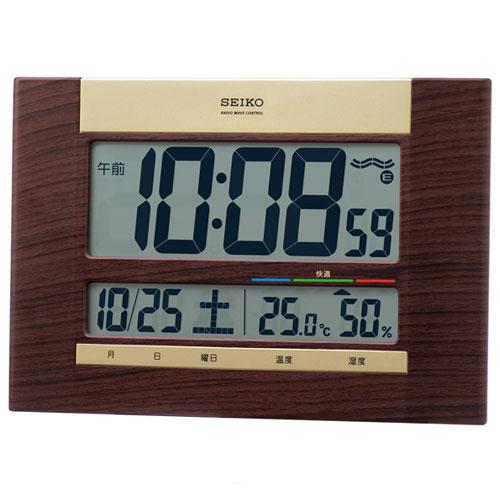 セイコー セイコー電波掛け時計 SQ440B 茶木目の写真
