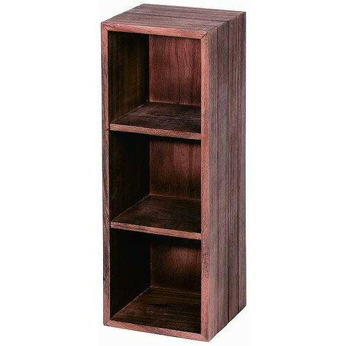 Cherry wood furniture チェリーウッド ディスクボックス 3段 16-86DBR ダークブラウンの写真