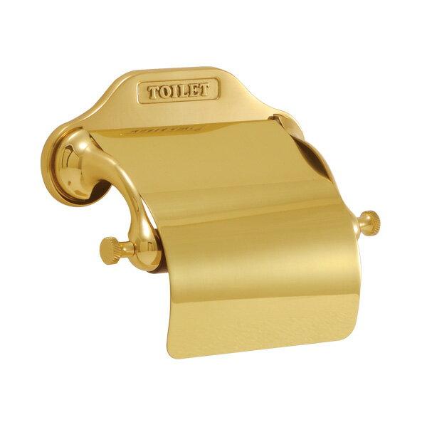 640330 シンプルペーパーホルダー(クラシック) レトロな金色のトイレットペーパーホルダーの写真