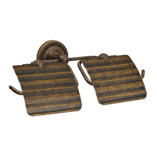 トイレットペーパーホルダー/二連組 PB真鍮古色トイレットペーパーハンガー