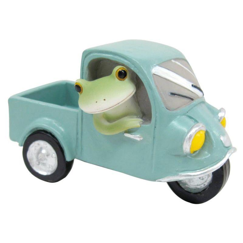 三輪自動車に乗るカエル 70893の写真