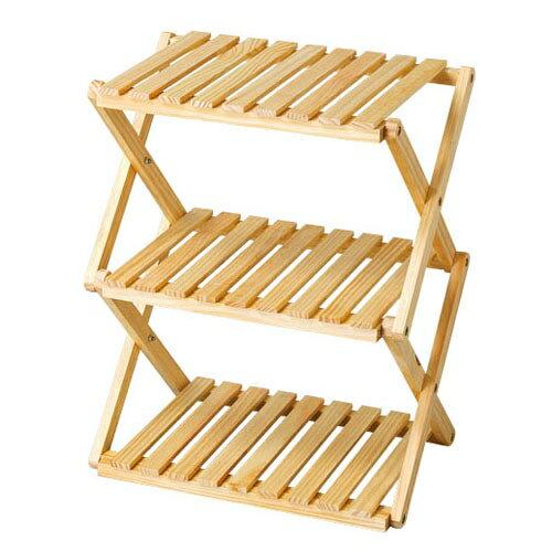 コーナンオリジナル コーナンラック 折り畳み式木製ラック W4603段 ナチュラルの写真