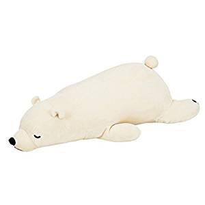 抱き枕 ぬいぐるみ シロクマのラッキー BIG 特大 ねむねむプレミアムの写真