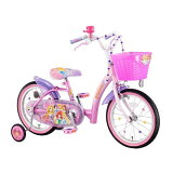 アイデス 18型 幼児用自転車 プリンセス ブリリアント ピンク/シングルシフト 00216
