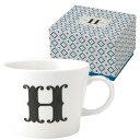 イニシャル パッケージ マグカップ アルファベット マグカップ H画像