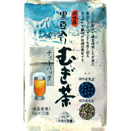 大井川茶園 国内産黒豆入りむぎ茶