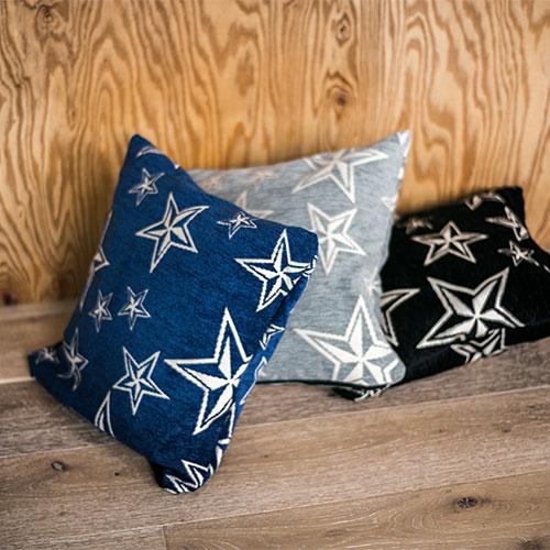 mercros star cushion cover  の写真