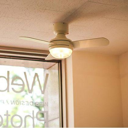 メルクロス メーヴェシーリングファン 3灯ライト リモコン付き 電球なし シルバー/ブラウン 直径94(プロペラ含む回転計)H34cm 001820の写真