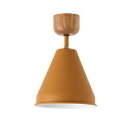 メルクロス カラー&ウッド 1灯シーリングランプ 電球なし イエロー 直径17H27cm 001841の写真
