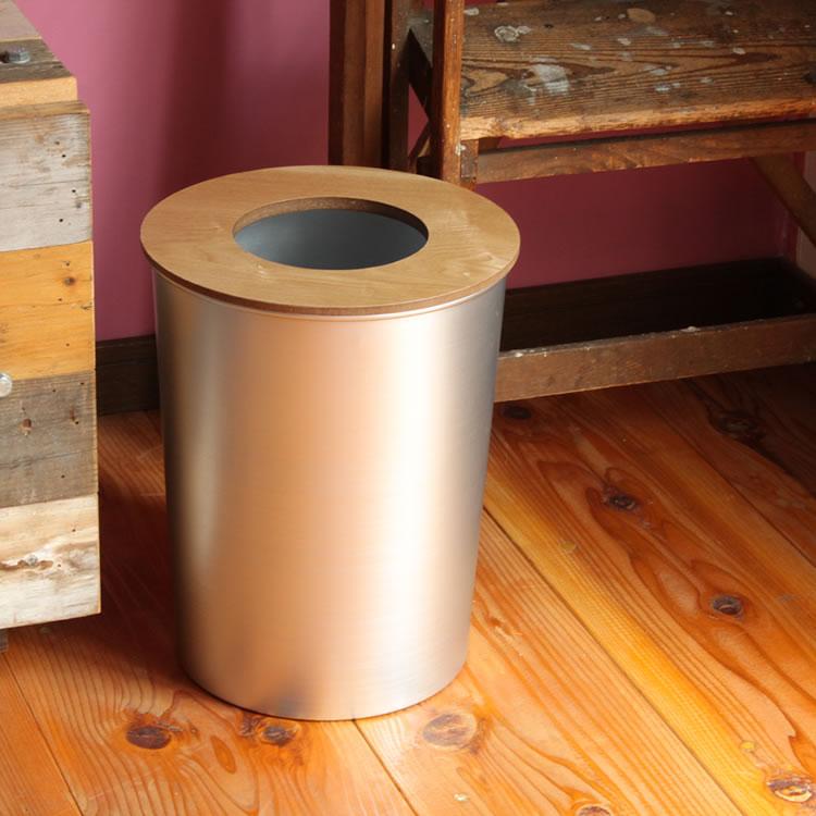 春 新生活 ゴミ箱 ごみ箱 ダストBOX くずかご ダストボックス ごみばこ インテリア リビング ゴミ箱 おしゃれ ウッド アルミ 北欧 込 ALUMI&WOOD DUST BOXの写真