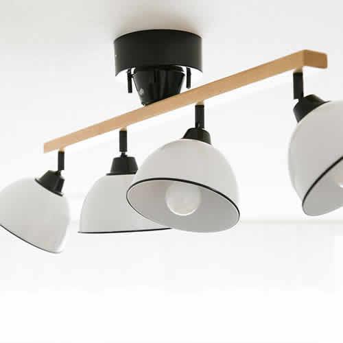 メルクロス シーリングライト 4灯 GENDER WOOD ROD 4CEILING LAMPの写真
