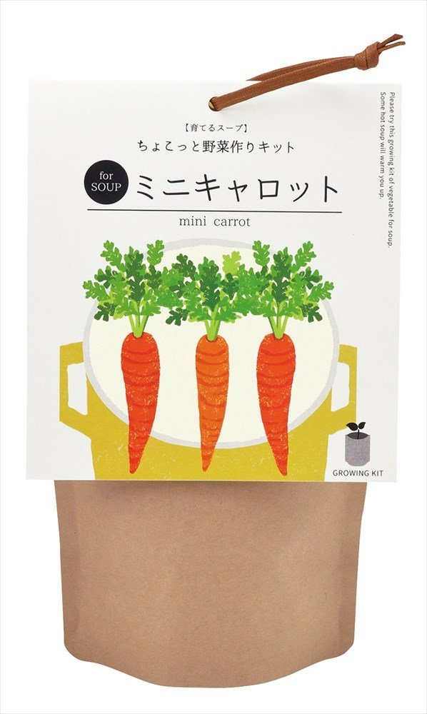 Grow Soup 育てるスープ ミニキャロット SEISHIN 聖新陶芸 GD-79502の写真
