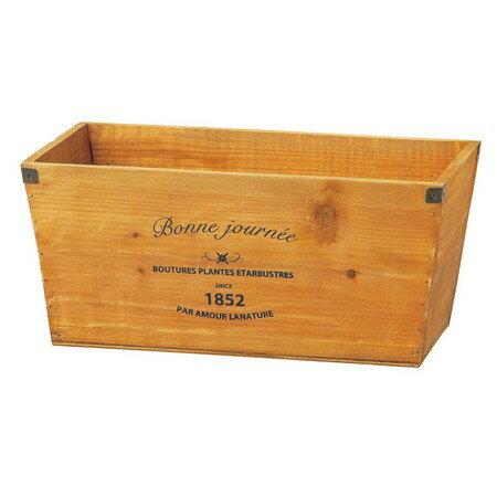 ガーデンボックス ウッド ポット 穴あり ライナー付き ブラウン CW-264BRの写真