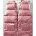 杉本産商 ウォッシャブル 羽毛 ポンチョ TO-1956 ピンク