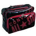 コンバース ( CONVERSE ) 0S エナメルショルダーM (ブラック/レッド)  マルチスポーツ バッグ C752052-BKRD画像