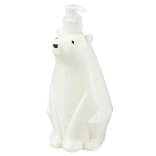 クマのおやこのディスペンサー ベアディスペンサーLサイズ WH(ホワイト)・VLV-3790の写真