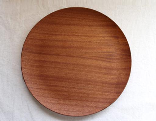 木製丸トレー ・レッドマホガニーの写真
