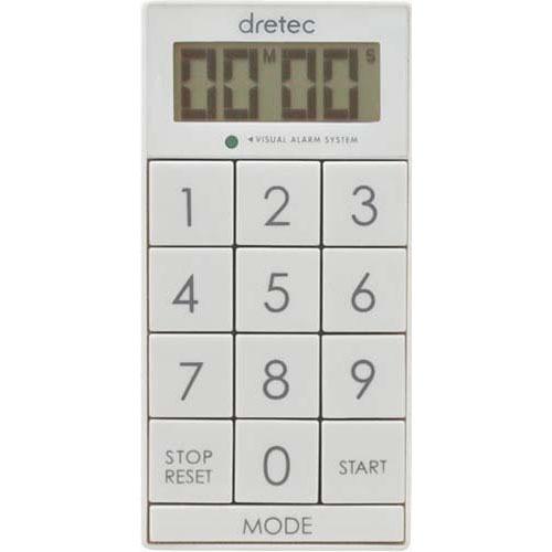 ドリテック デジタルタイマー スリムキューブ ホワイト T-520WT(1コ入)の写真