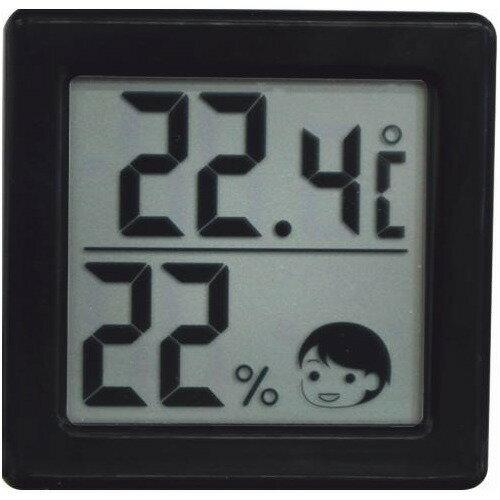 ドリテック 小さいデジタル温湿度計 ブラック O-257BK(1セット)の写真