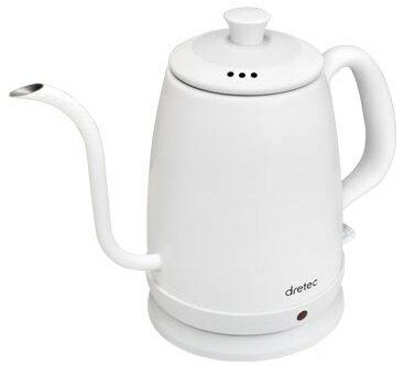 ドリテック 電気ケトル ステンレス コーヒー ドリップ po-135wtdi  の写真