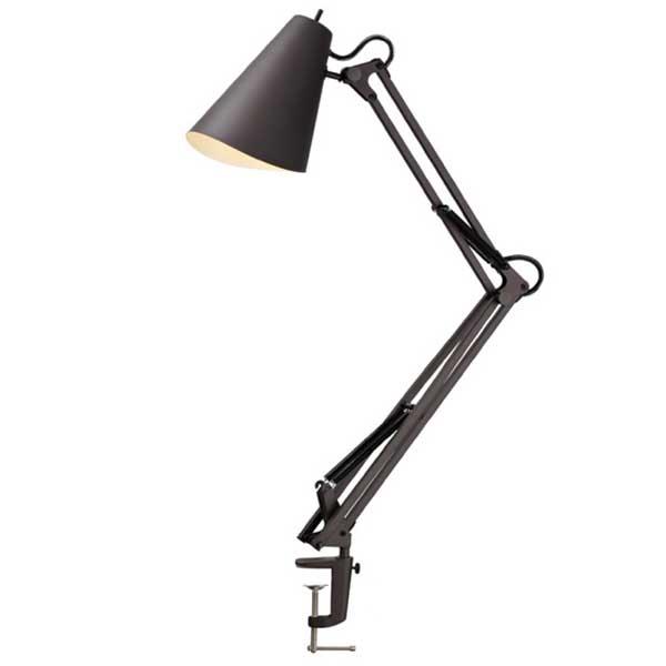 アートワークスタジオ デスクライトaw-0369e led電球 snail desk-arm lightスネイルデスク アームライト bk ブラック の写真