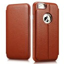 デンノー Transformers Litchi Pattern For iPhone 6 Leather Brown MIP-609BN