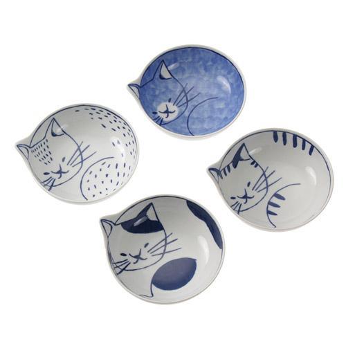 波佐見焼 neco鉢 4P  猫の小鉢 キッチン用食器