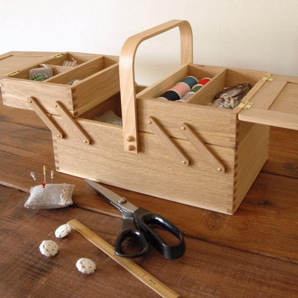 倉敷意匠 のソーイングボックス裁縫箱木製 国産 無垢