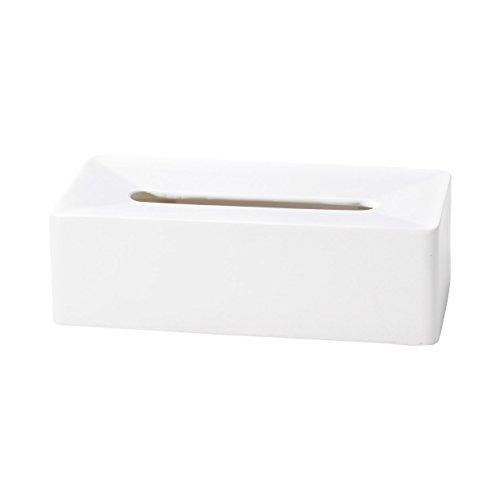 ideaco イデアコ ティッシュケース バーグランデ ホワイトの写真