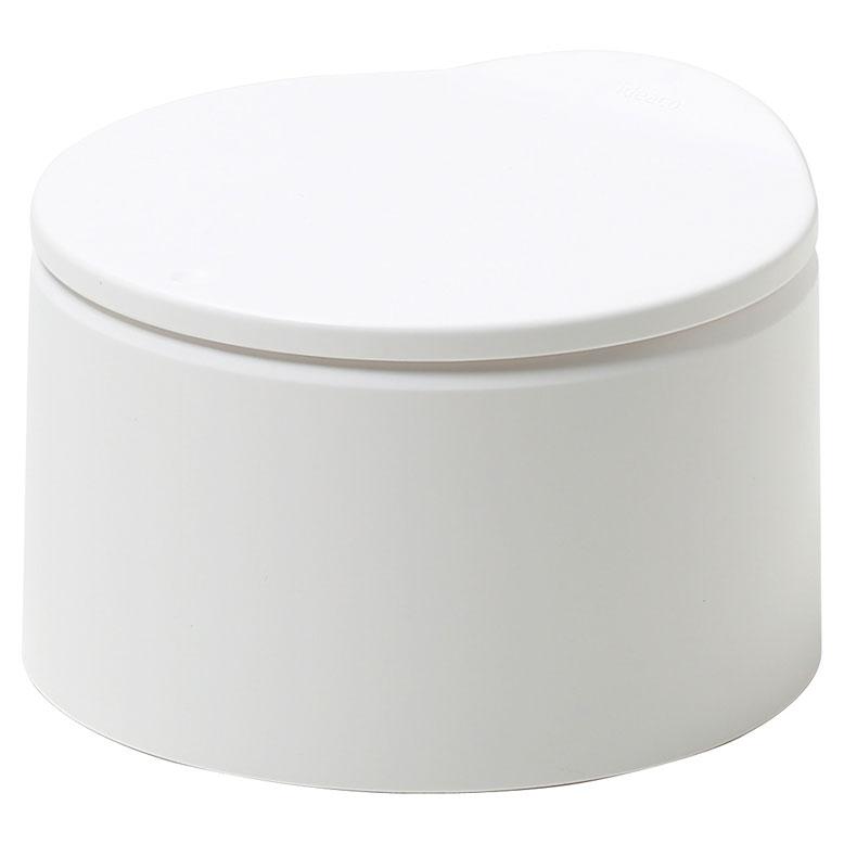 ideaco イデアコ キッチン用 卓上ゴミ箱 トラッシュカン ミニチューブラー フラット20 ホワイト マットカラーの写真