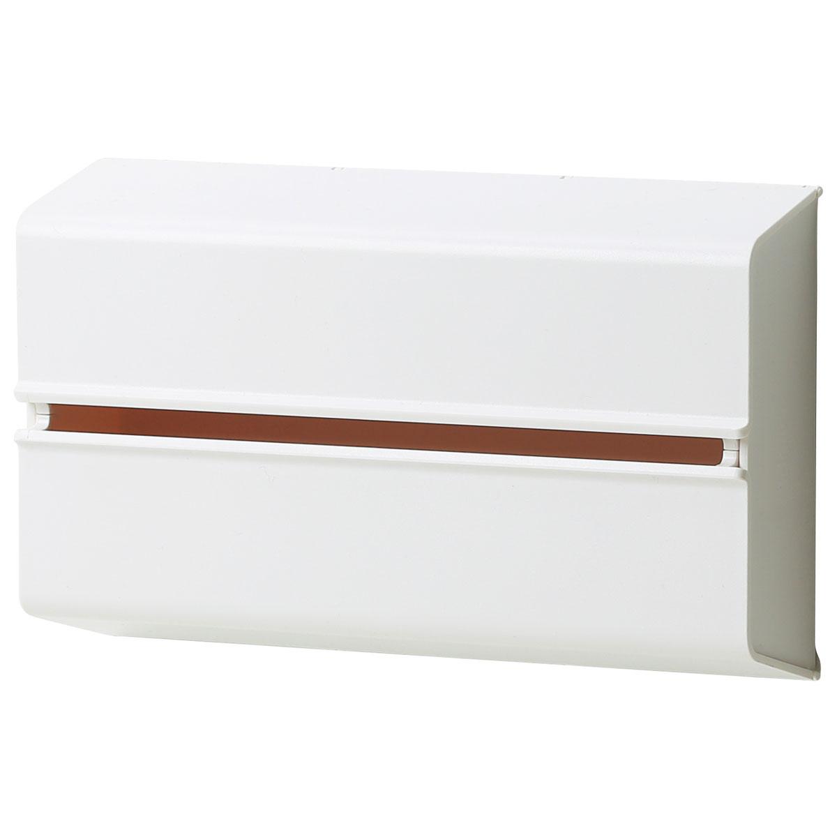 ideaco (イデアコ) キッチンペーパーホルダー ホワイト 幅25.5x高さ15.6 6.5 対応サイズ:幅23x高さ12x奥行4.5cm WALL PT(ウォール ピーティ)の写真
