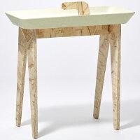 イデアコ サイドテーブル タイニーウォーク エクル オフホワイト -の写真