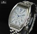 GRANDEUR (グランドール) 腕時計 トノー型  クロノグラフ  カレンダー付き OSC035W1 メンズ