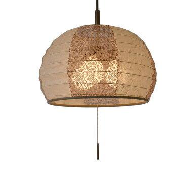 彩光デザイン 和紙 ペンダントランプ igloo イグルー spn3-1026 雲龍ベージュ 麻葉唐茶