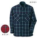ムッシュ(MUSSHU) 太番手ウールメンズチェックシャツジャケット A(レッド) LL 55190