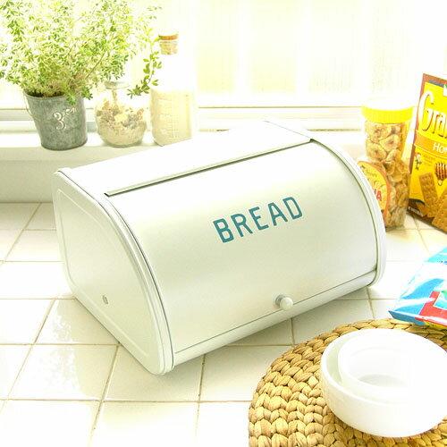 (アンティーク調カントリー雑貨)キッチン収納、食品の保管に!ホームステッド ローラートップブレッド缶S ブルーの写真