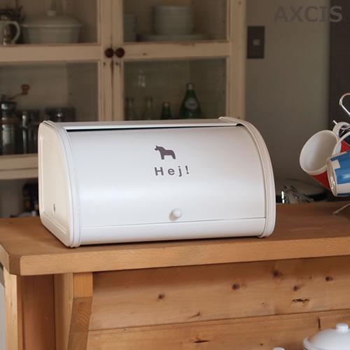 キッチン雑貨 ブレッド缶 ダーラナホース 北欧カントリー おしゃれでかわいい 人気のアンティーク調の写真