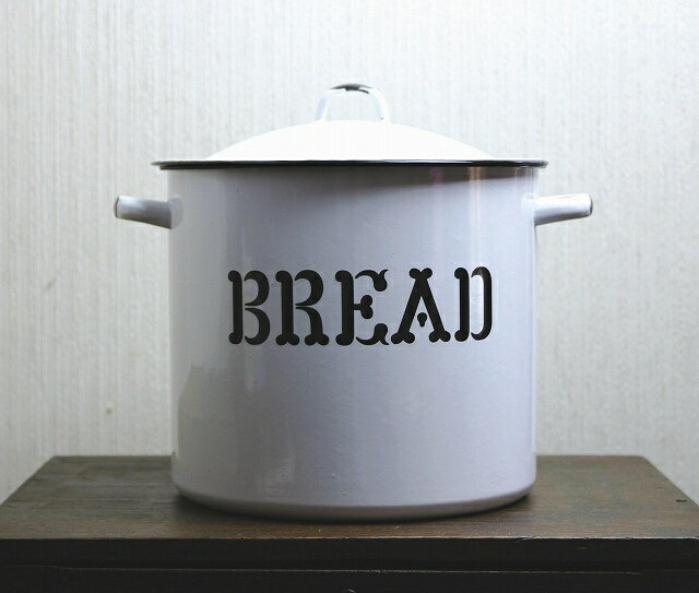 ブレッド缶26cm アクシスのホーロー ナチュラルの写真