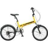 ハマー 20インチ Wサス付き 6段変速 折りたたみ自転車 イエロー HUMMER FDB206 W-sus