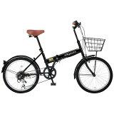 レイチェル FB-206R 20インチ 6段 折畳自転車 ブラック