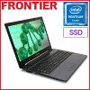 BTO 15.6型 ノートパソコン Windows10 Pentium 4405U 8GB メモリ 500GB SSD→525GBへアップ 無線LAN FRONTIER