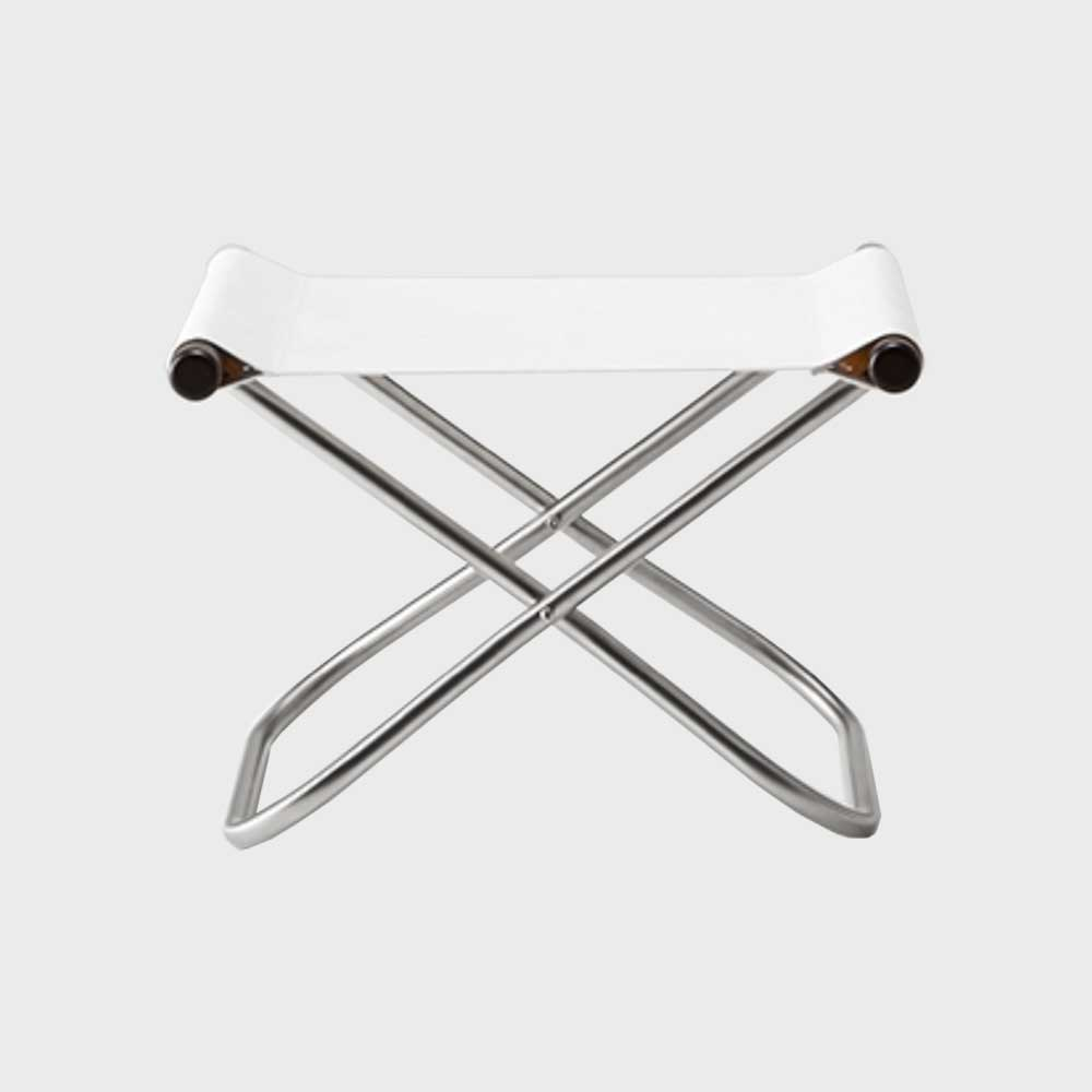 NYchair ニーチェア X エックス 折りたたみイス 椅子 オットマン ナチュラル×ブルーの写真