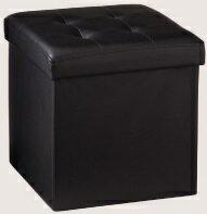 ワイド 単品 収納 スツール ボックス 収納スツール 収納ボックス 折りたたみ 折り畳み コンパクト レザー オットマンの写真
