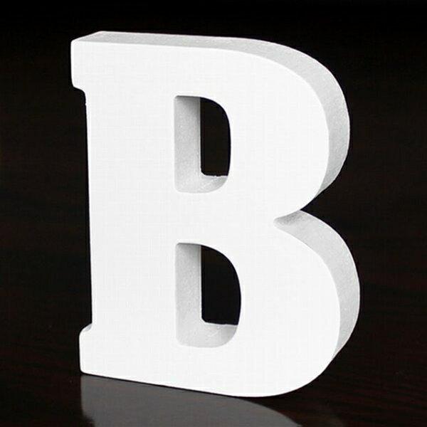ホワイトウッドレター B 高さ10cm