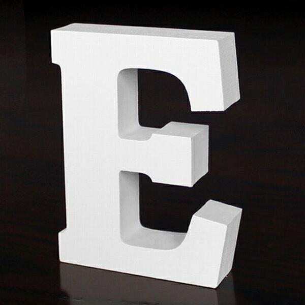 ホワイトウッドレター E 高さ10cm