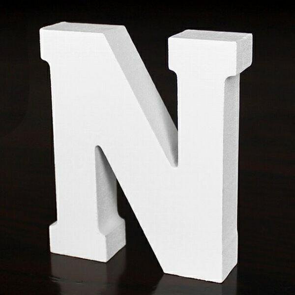 ホワイトウッドレター N 高さ10cm